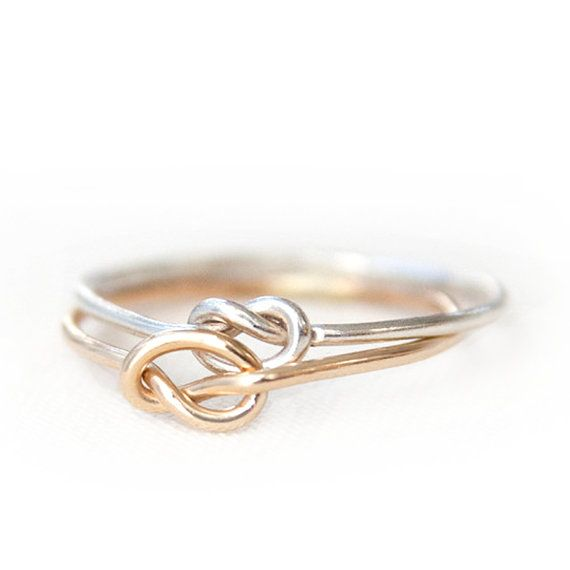 $20 Silver Love Knot Ring Gold Love Knot Ring Rose Gold