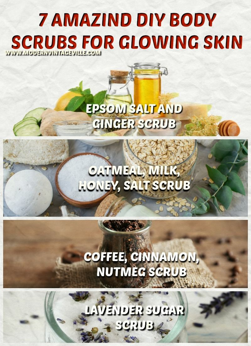 7 Homemade Amazing Simple Body Scrubs For Glowing Skin Diy Body Scrub Recipes Diy Body Scrub Body Scrub Recipe