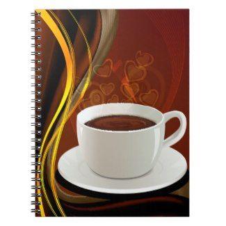 Coffee Art Cafe Spiral Notebooks