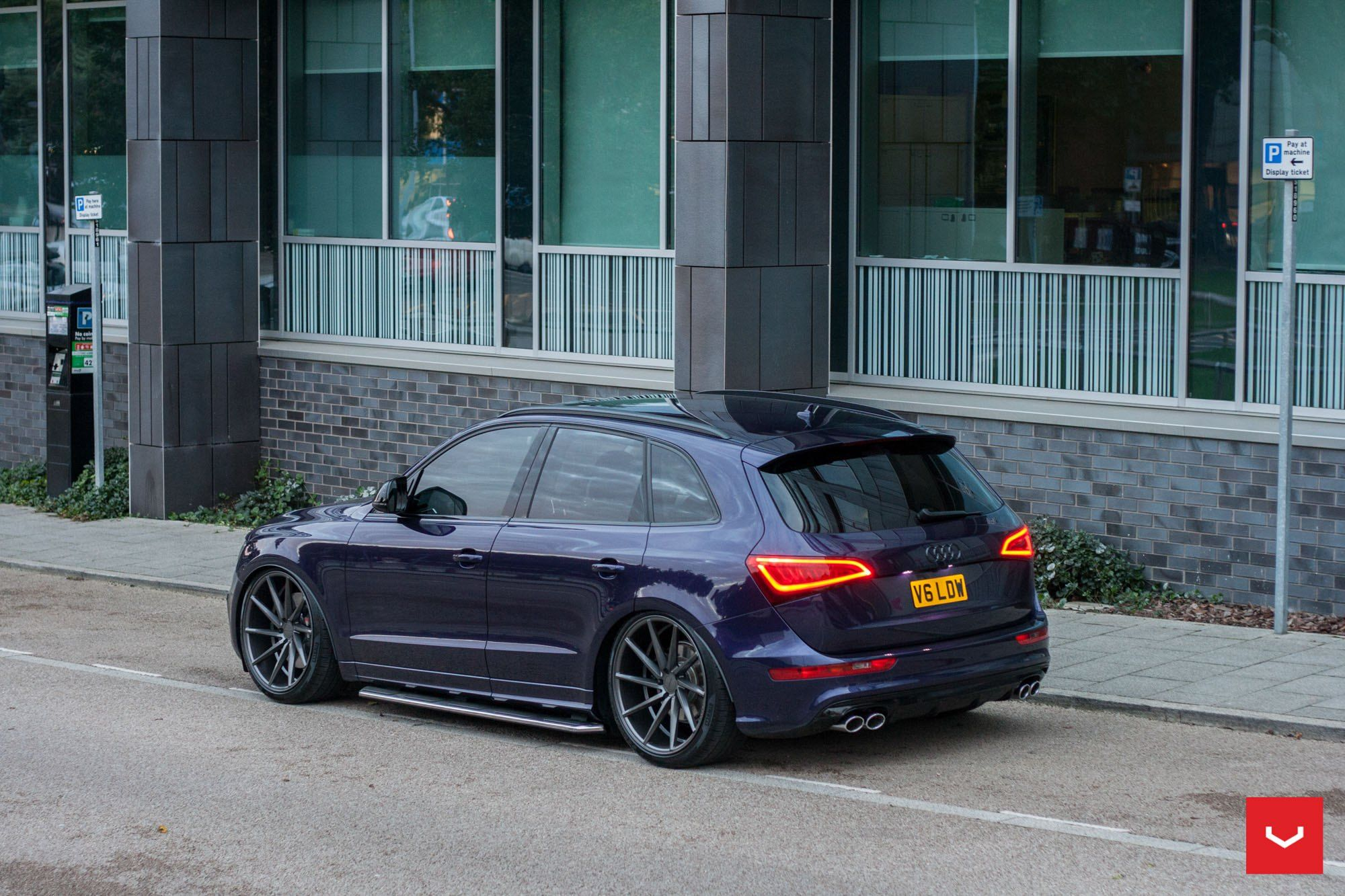 Fascinating Purple Audi Q5 Boasts Multiple Custom Add Ons