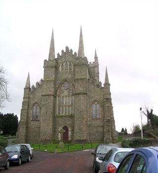 St Patrick's Cathedral in Down Patrick in Northern Ireland. His grave is just up on the left.