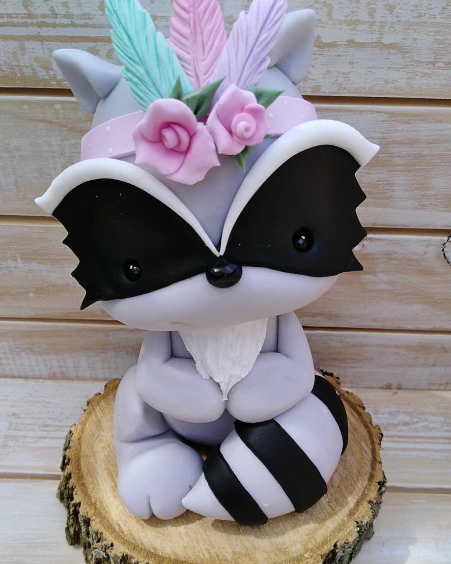 Pin De Les Doucesmerveilles En Animales Del Bosque Manualidades Rosas En Porcelana Fria Animalitos En Porcelana Fria