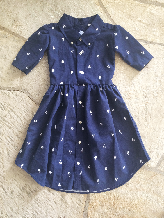 476935148 DIY  Men s XL shirt into a little girl s dress