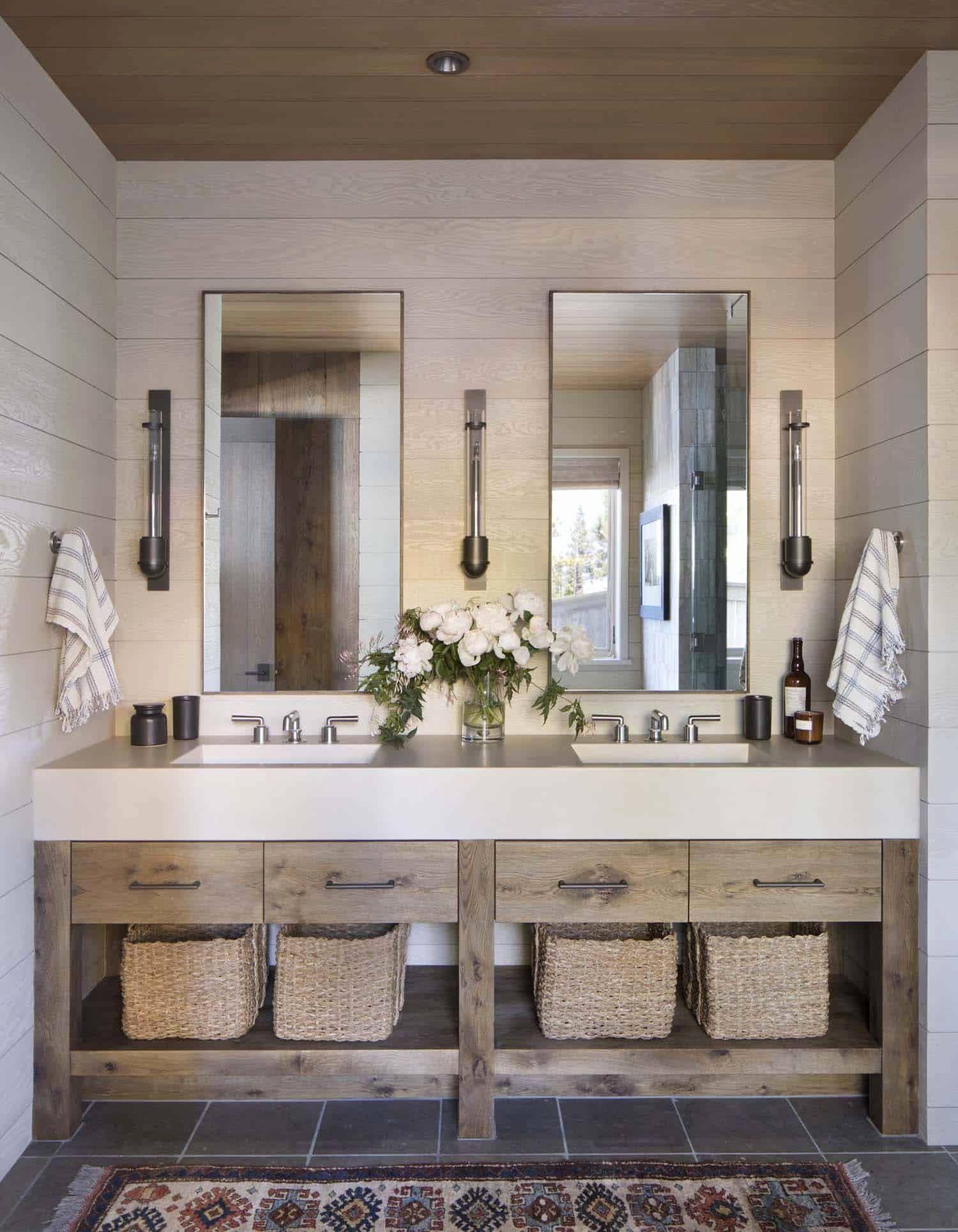 Bathroom Decor New Rustic Lake House, Lake Cabin Bathroom Decor