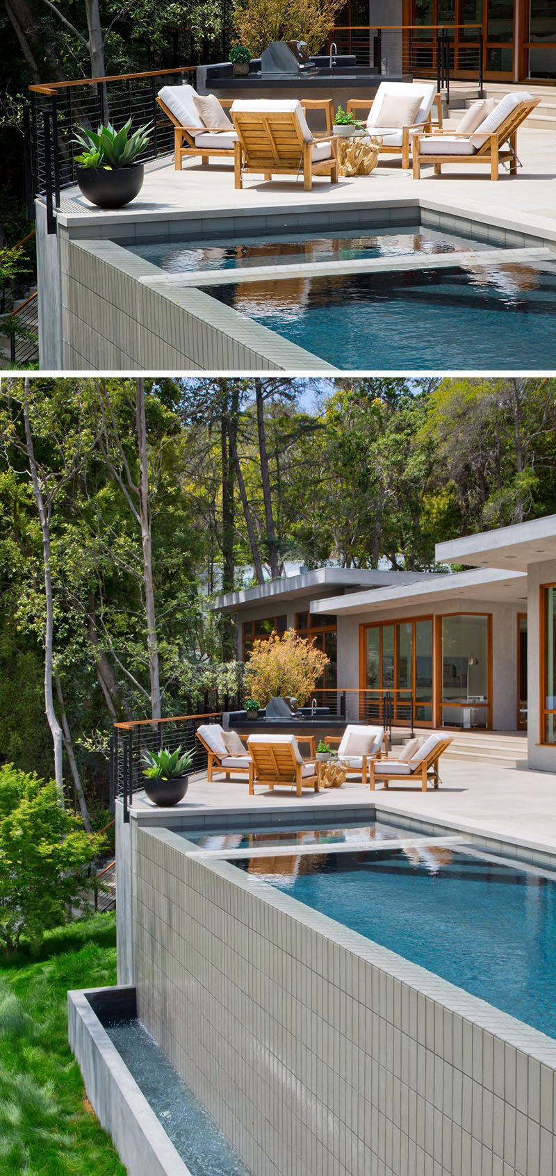 A Contemporary Redesign For This Mid Century Modern Home In Los Angeles Modern Pools Pool Houses Backyard Pool