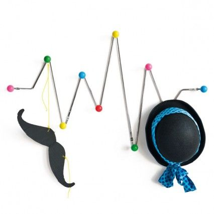 Funky Wall Hooks heartbeat coat rack - modern designer coat hook. would prefer it