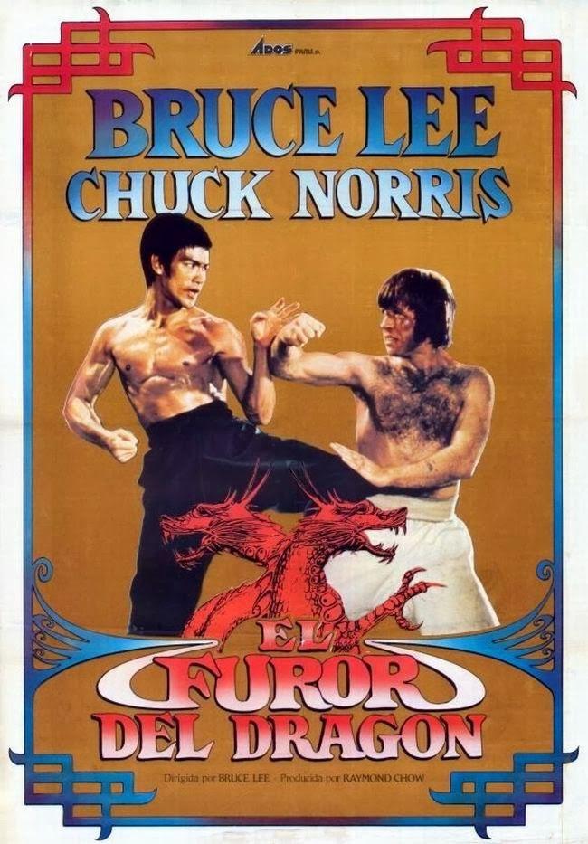 El furor del dragón (1972)   Películas de bruce lee, Carteles de cine, Chuck norris