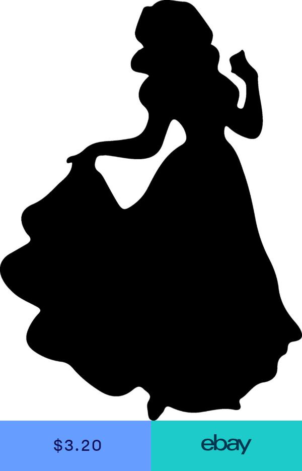 Custom Vinyl Car Decal Run Disney Princess Cinderella Silhouette Sticker