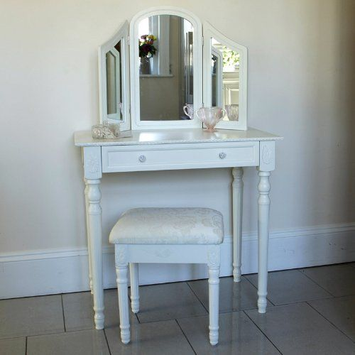 Best Arabella Range Ivory Dressing Table With Triple Mirror And Stool Melody Maison Http Www 640 x 480