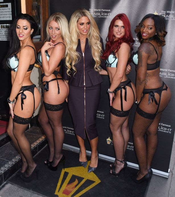 Bianca Gascoigne Parties With Scantily Clad Girls As She