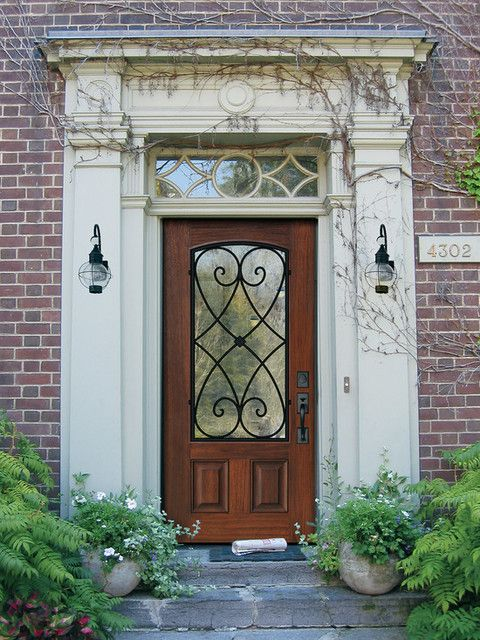 Fiberglass Single Entry Doors On Creative Traditional Entry For