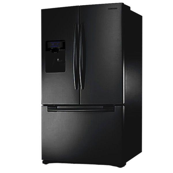 Samsung RFG23UEBP dreitürige Kühlschrank Gefrierschrank, schwarz ...