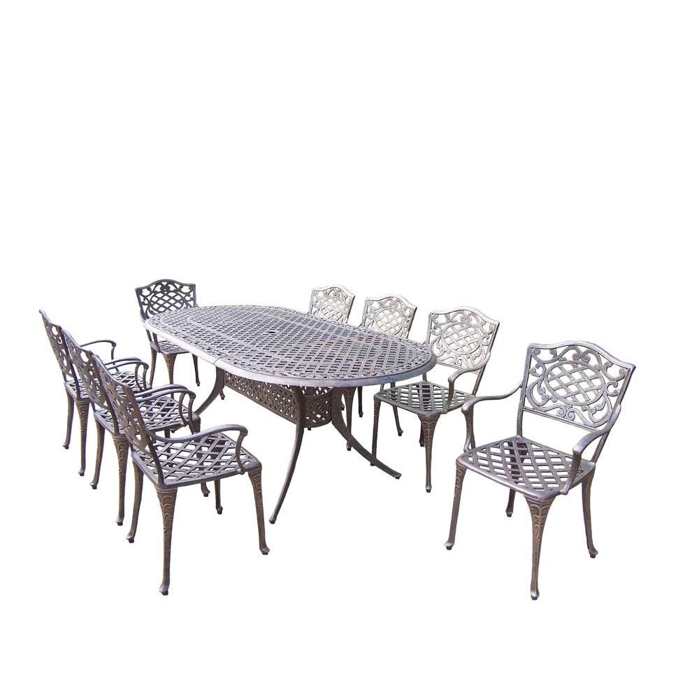 oakland living mississippi 9 piece oval patio dining set products