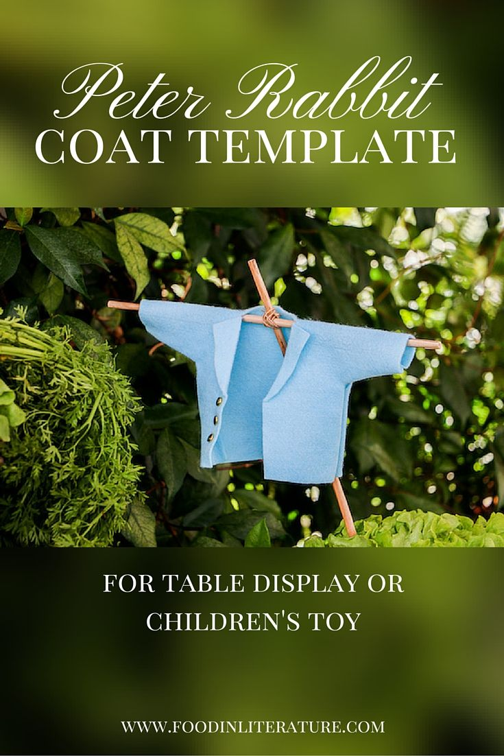 Use this easy Peter Rabbit Coat Template to make a centrepiece for Easter this year. Includes free downloadable template.