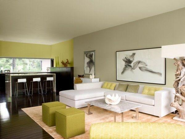 d coration de salon moderne en vert et gris 20 exemples deco salon salon d co salon et. Black Bedroom Furniture Sets. Home Design Ideas