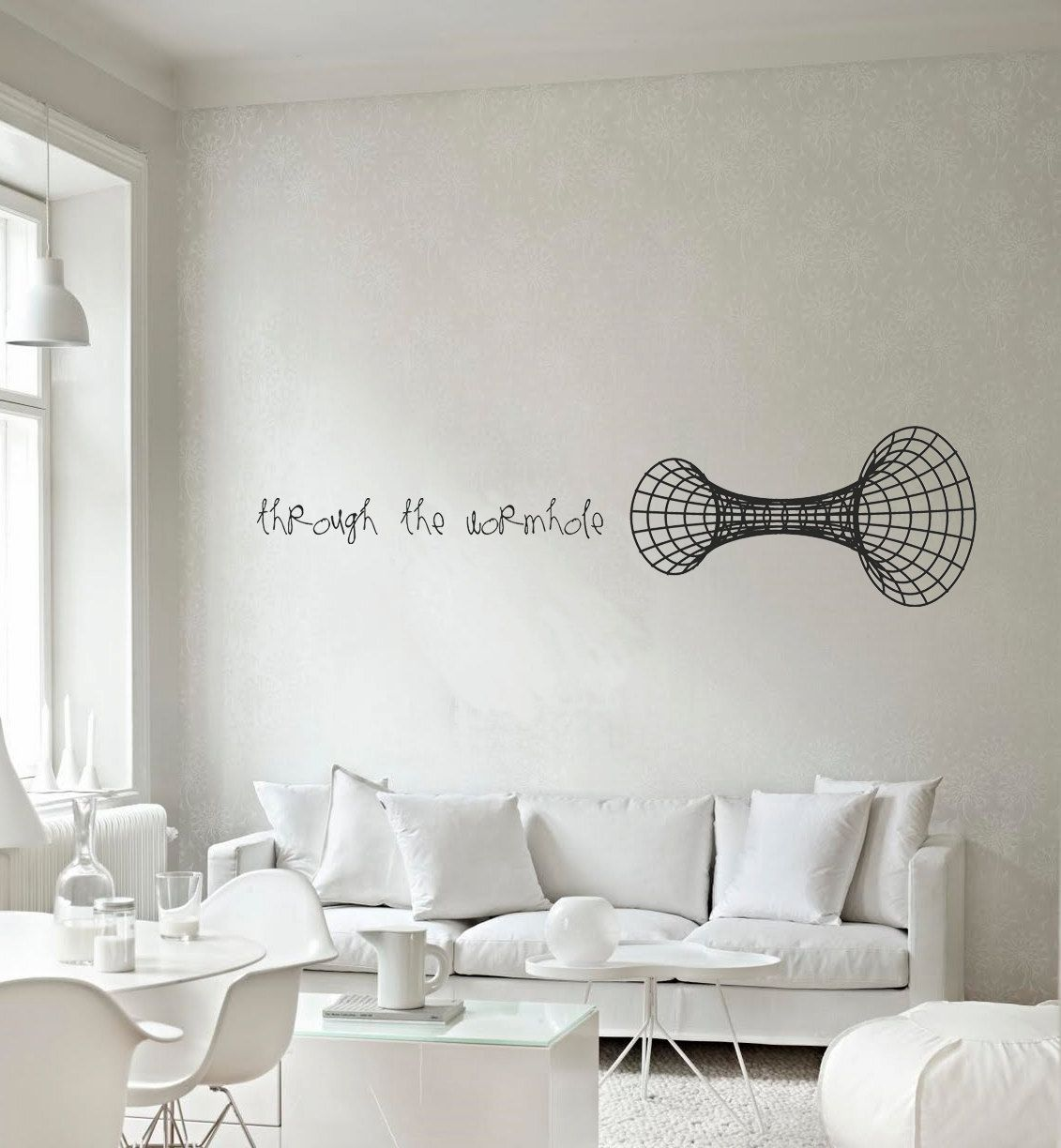 Science Art Through The Wormhole Vinyl Wall Decal For Your Lab - Custom vinyl wall decals coffee