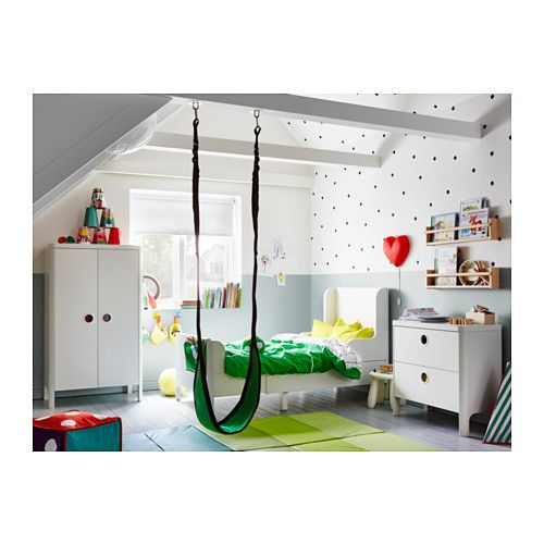 Kinderbett baggerbett  BUSUNGE Bettgestell, ausziehbar - IKEA | Kinderzimmer | Pinterest ...