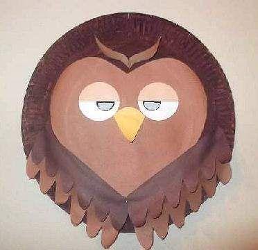 paper plate owl mask & paper plate owl mask | paper plate crafts | Pinterest | Owl mask ...