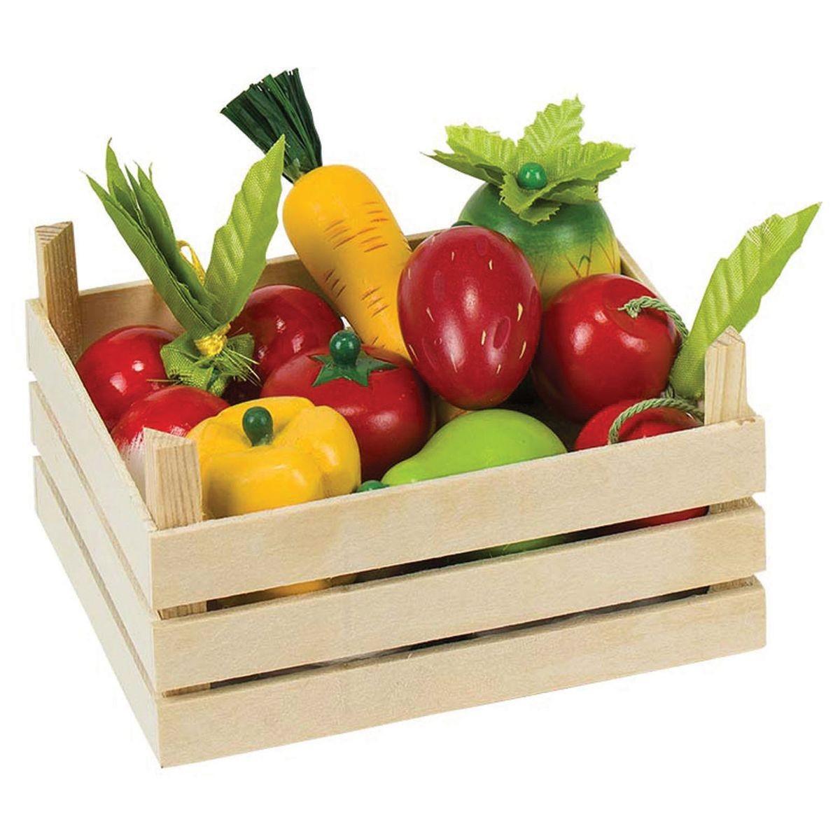 Goki Boîte en bois avec radis