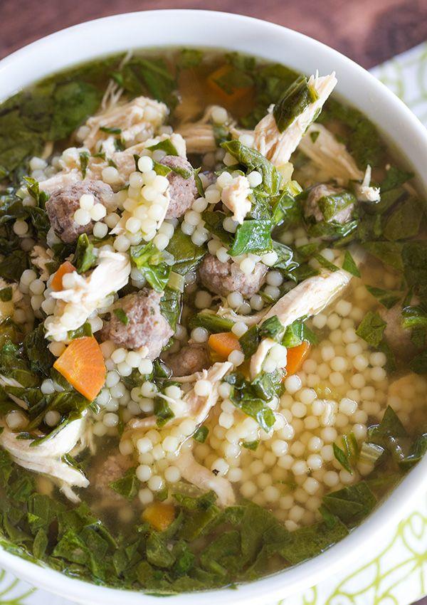A Clic Italian Wedding Soup Recipe With Little Bits Of Pasta Shredded En