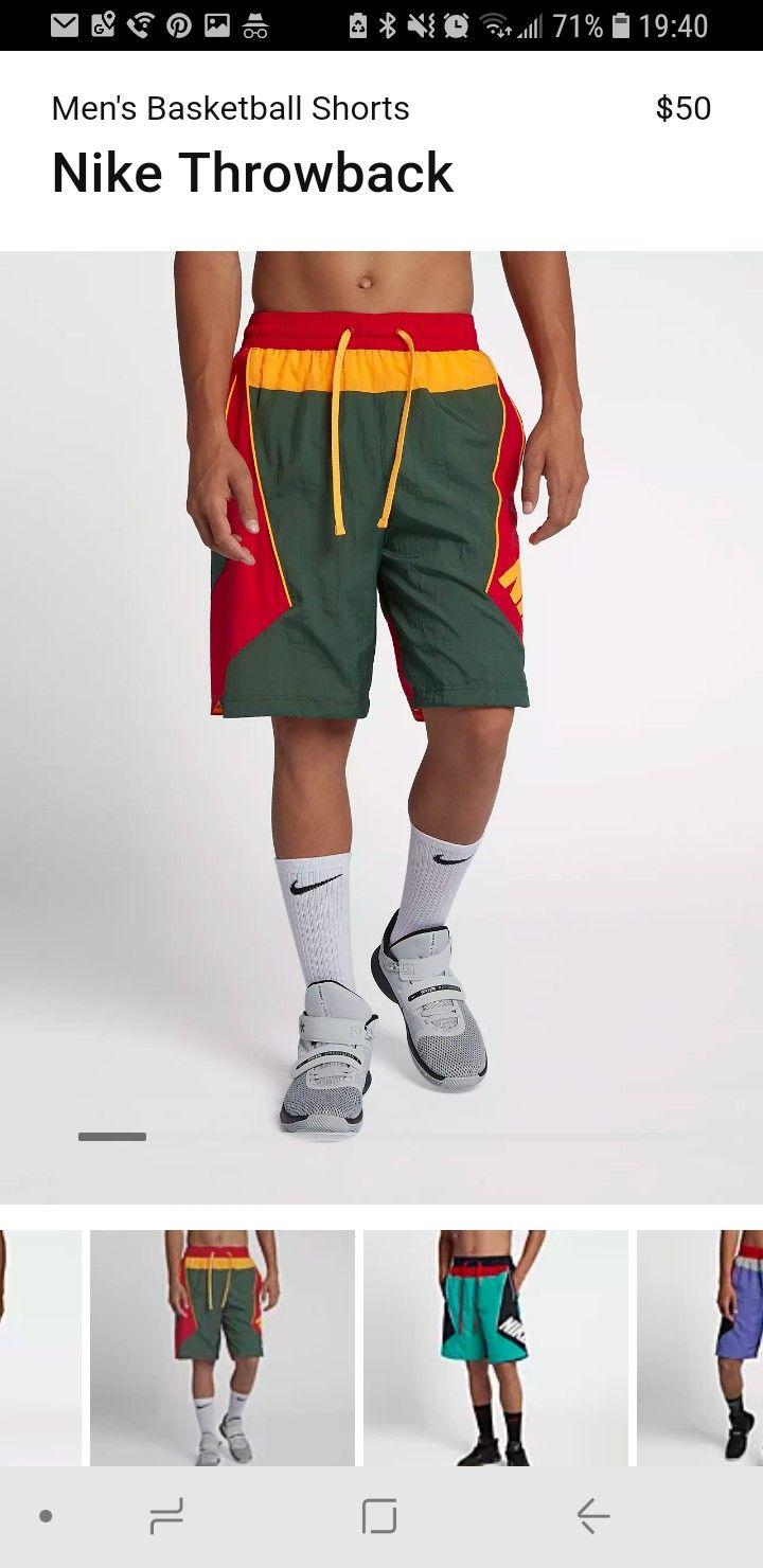 Nike Throwback Basketball Shorts Nike Basketball Shorts Basketball Shorts Shorts