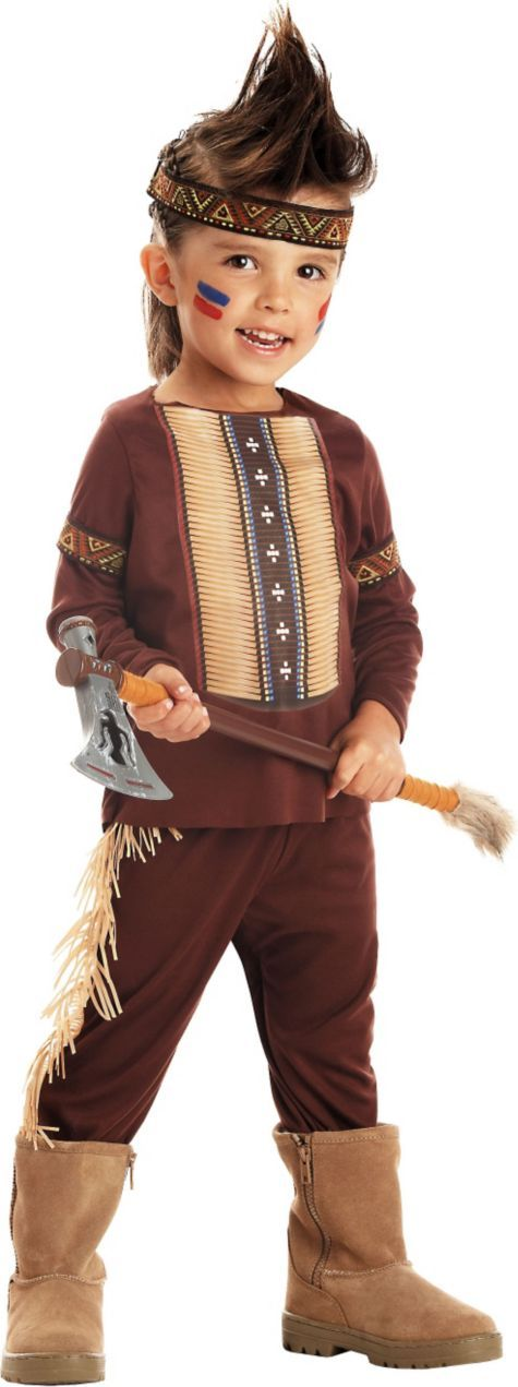 Toddler Boys Li'l Warrior Indian Costume - Party City