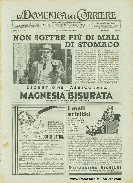 Domenica del Corriere - 10 / 16 Marzo 1940 by Illustrated History - Domenica del Corriere, via Flickr