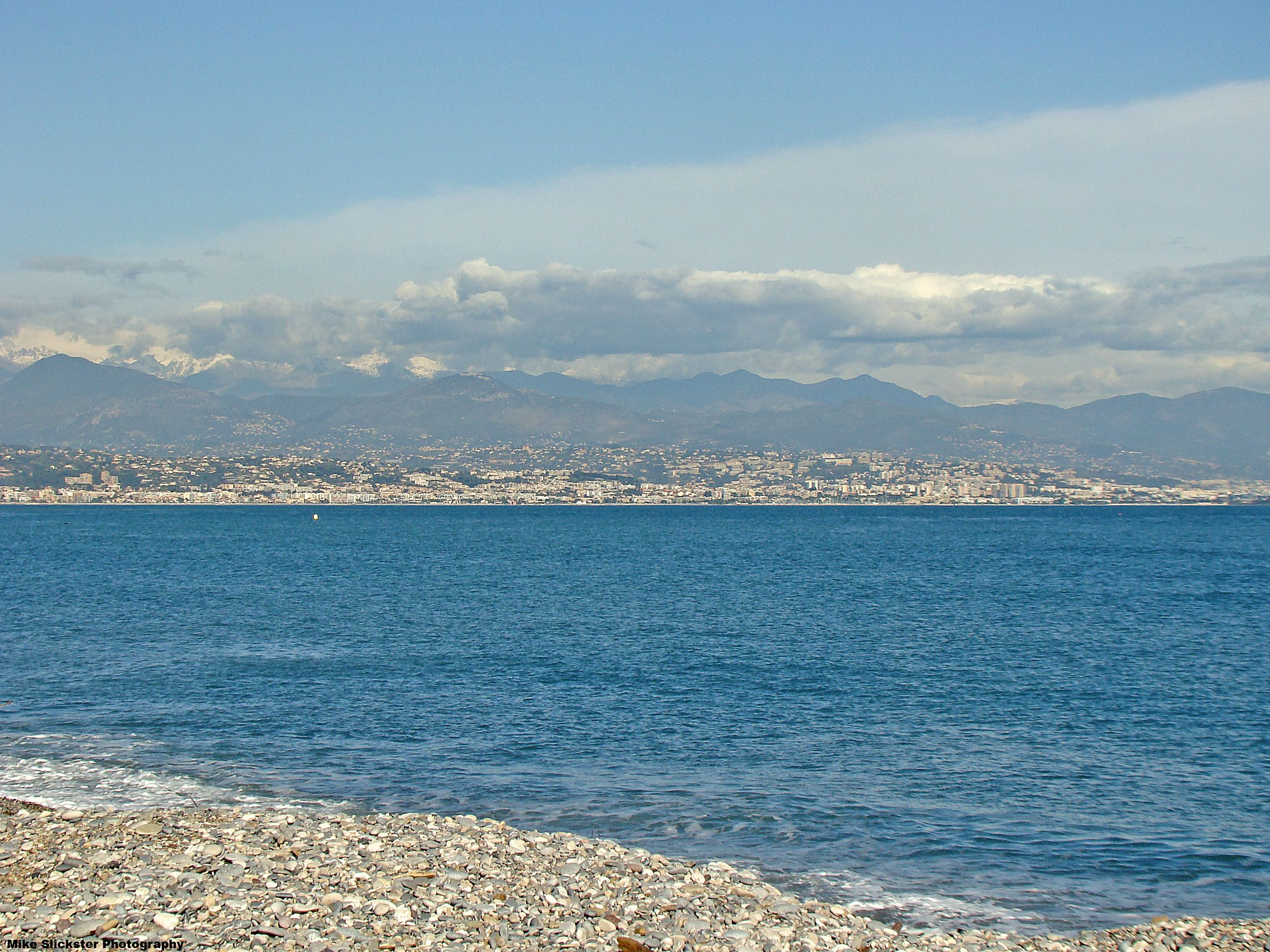 Mediterranean Toward Nice From Antibes The Snow Capped French Alps Are In The Background French Alps Antibes French Riviera