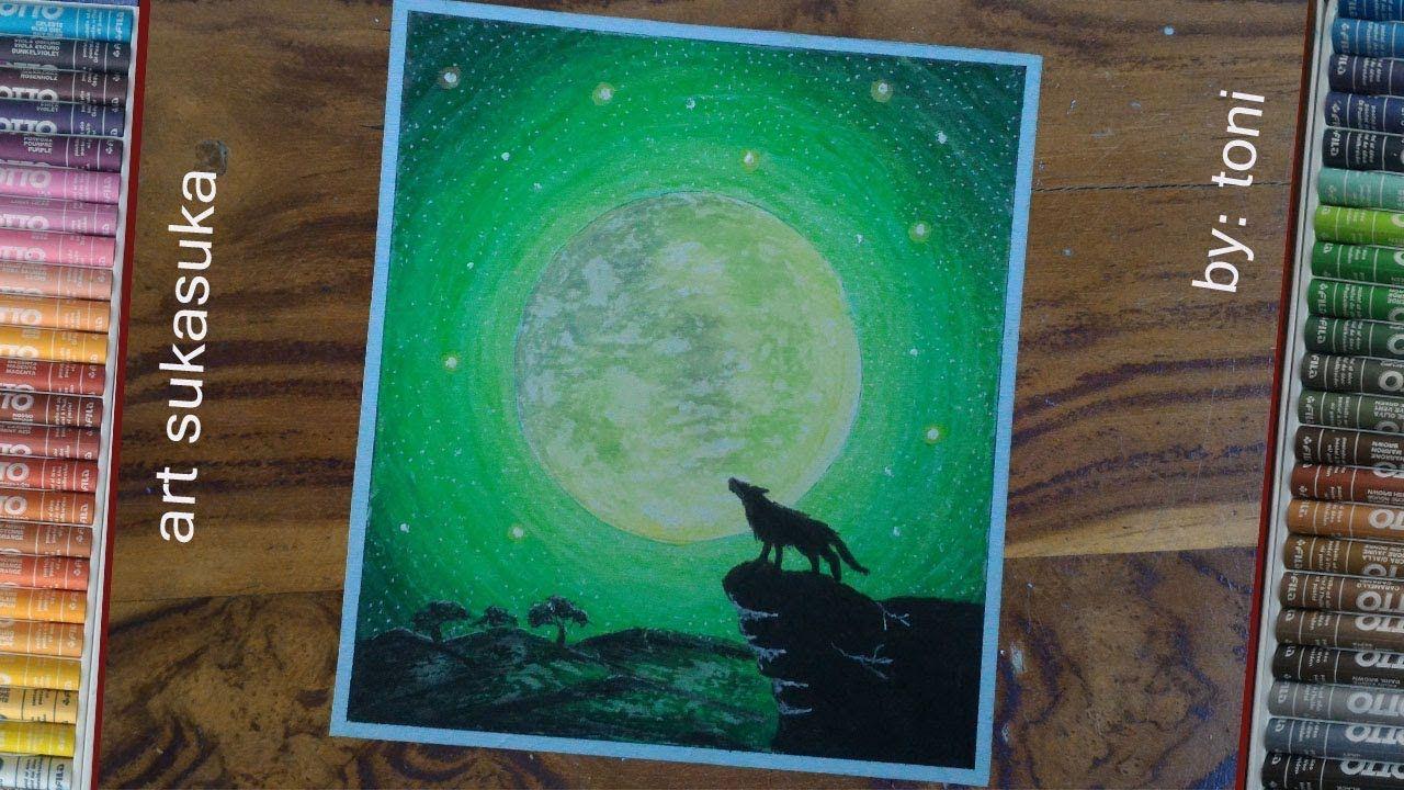 Gambar Serigala Cara Menggambar Dengan Crayon