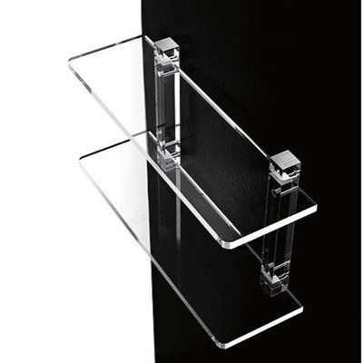"Plexiglass Shelf Unit Shelves: Two, Size: 16"" by Toscanaluce by Nameeks. $219.41. 600/40 Shelves: Two, Size: 16"" Features: -Shelf unit.-Transparent.-Wall-mounted 16'' two-level transparent plexiglass shelf unit. Dimensions: -Overall dimensions: 15.75'' H x 5.2'' W x 23.6'' D. Collection: -Orchidea collection."