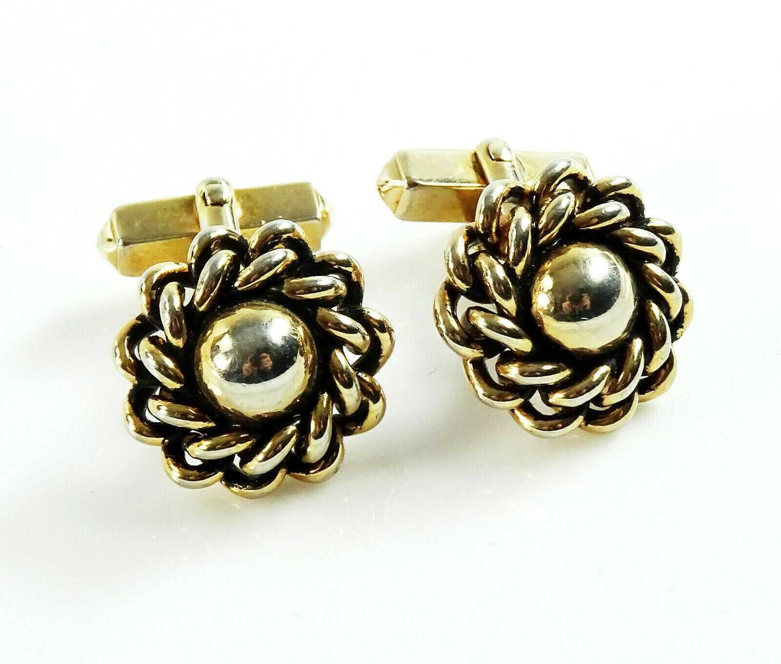 Gold and Grey Multi Bubble Cufflink
