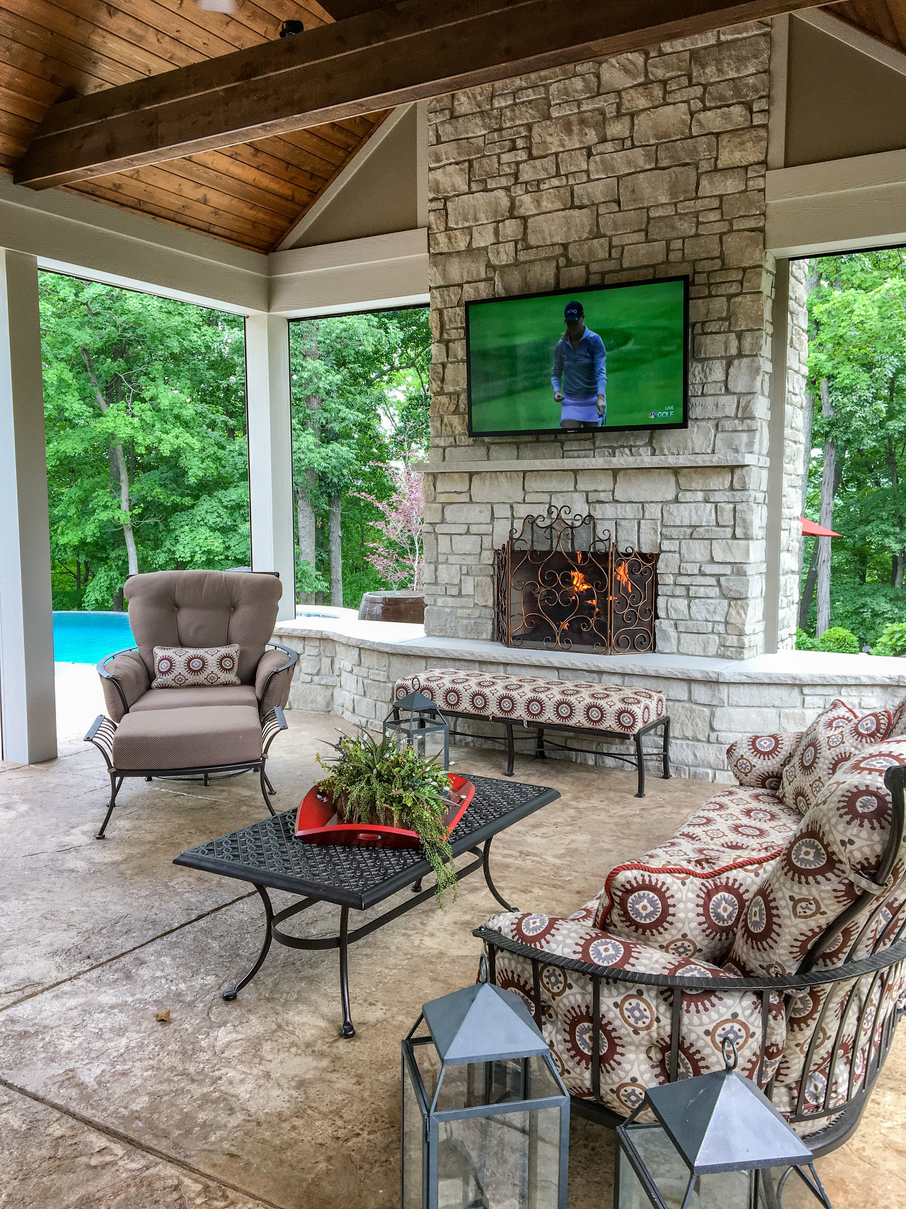 Beautiful custom outdoor living space built in St. Louis ... on Custom Outdoor Living Spaces id=16278