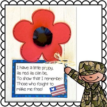 Veteran's Day Poppy Flower Craft and Poem of Remembrance