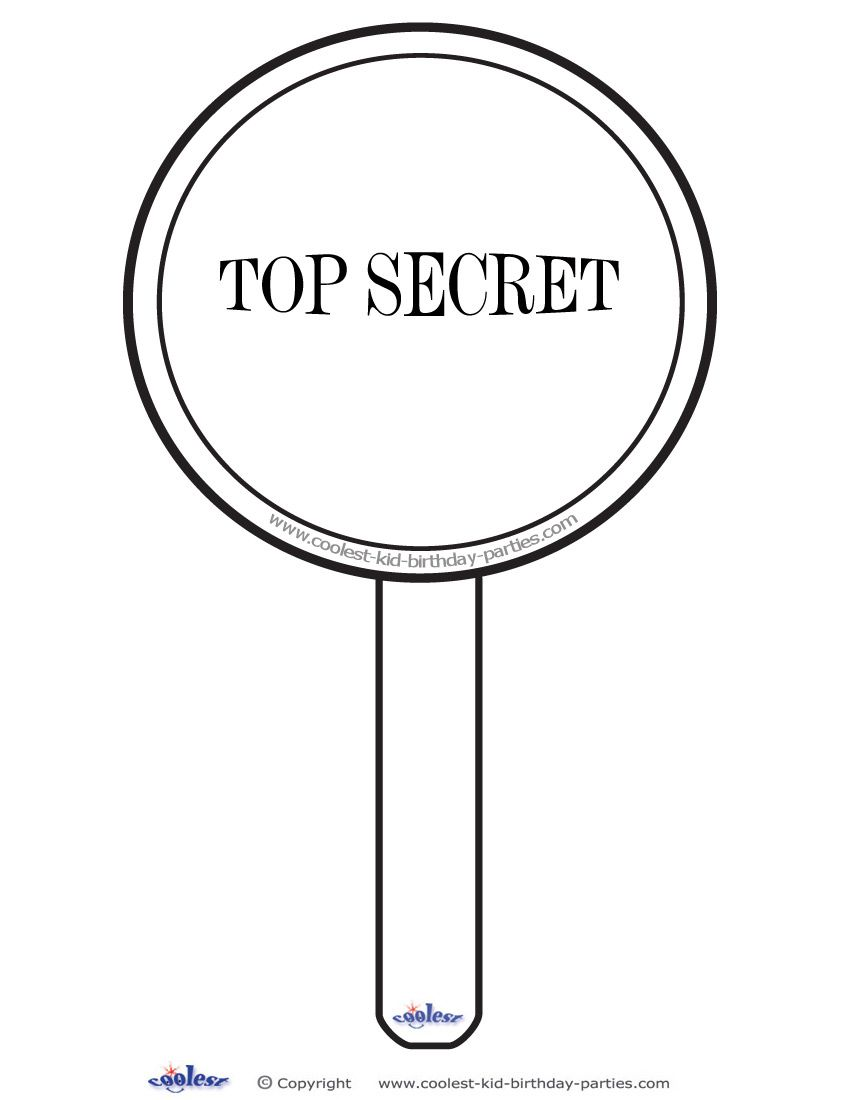 Printable Magnifying Glass Decoration Coolest Free Printables