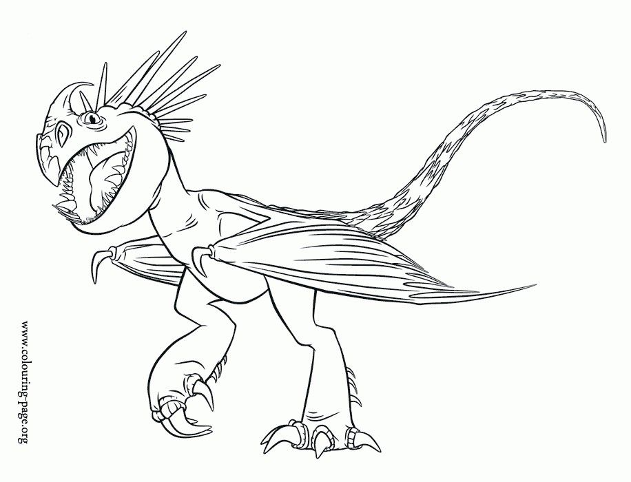 Stormfly The Deadly Nadder Httyd 2 Dragon Coloring Page How