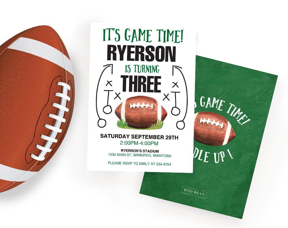 Football Birthday Invitation, Sports Invitation, Boys invitation ...