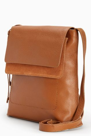 a06cb7936425 Bag · Buy Tan Leather Messenger Bag from the Next UK online shop