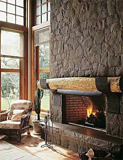 Elegant Kamine, Kaminverkleidungen, Kaminbau, Kaminsimse, Rustikale Kamine,  Feuerstellen Aus Stein, Rustikaler