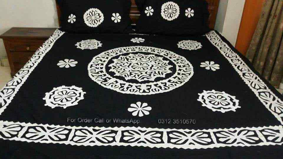 Find Aplic Work Bed Sheets Prices In Pakistan U0026 Latest Designs 2018 Bed  Sheets Online Shopping: 3D Applique Printed, Poly Cotton, Egyptian Cotton  ...
