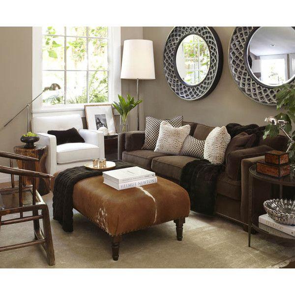living rooms - Velvet Sofa Nail Heads Cowhide Ottoman Wood ...