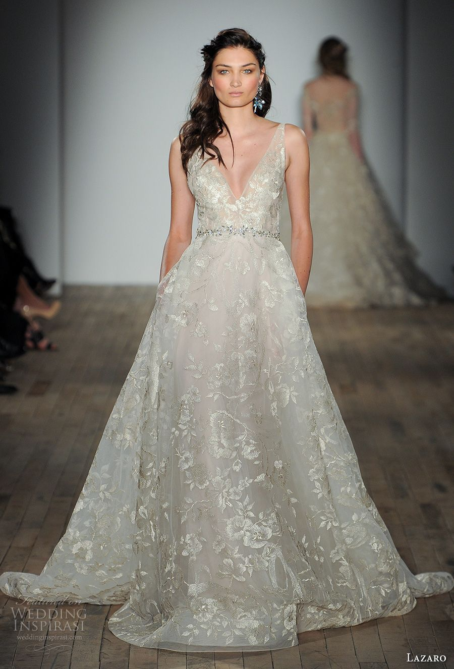 lazaro fall 2017 wedding dresses new york bridal fashion week runway show