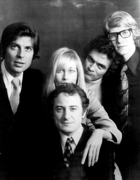 Francois Catroux, his wife and YSL muse Betty Catroux, Bill Willis, Yves Saint Laurent, Pierre Bergé
