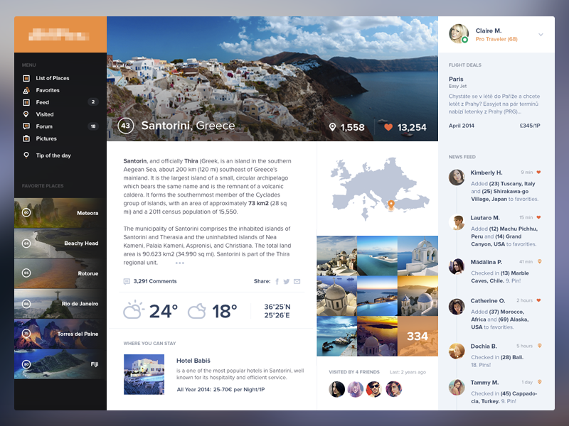 Beautiful Places Web - Detail
