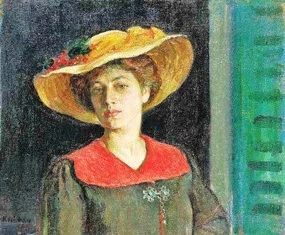 Henri Lebasque (French artist, 1865-1937) Woman in a Yellow Hat