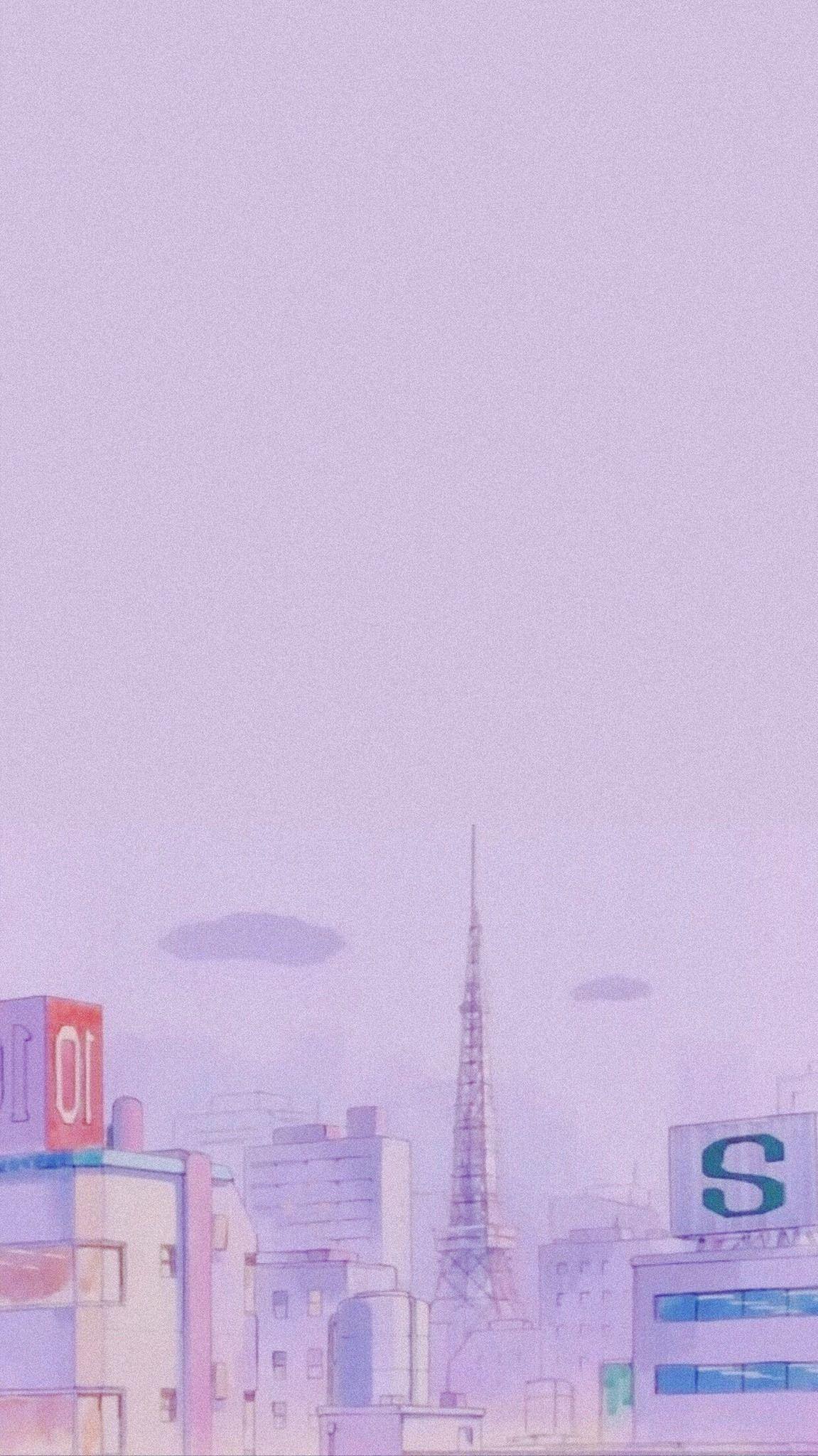 Pin By Amanda Navas On Anime Wall Aesthetic Pastel Wallpaper Purple Wallpaper Iphone Anime Scenery Wallpaper
