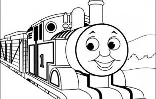 Thomas The Train Color Pages Printable Pages Train Drawing