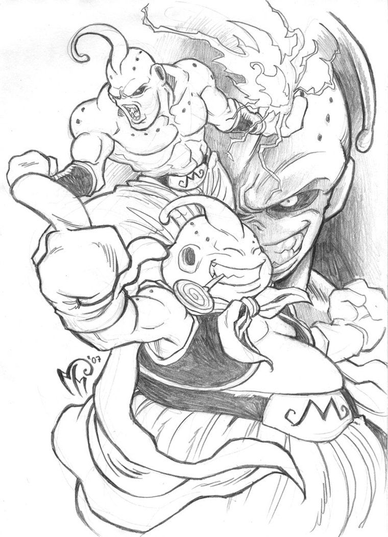 Majin Boo By Marcelperez On Deviantart Dbz Drawings Dragon Ball Art Dragon Ball Super Manga