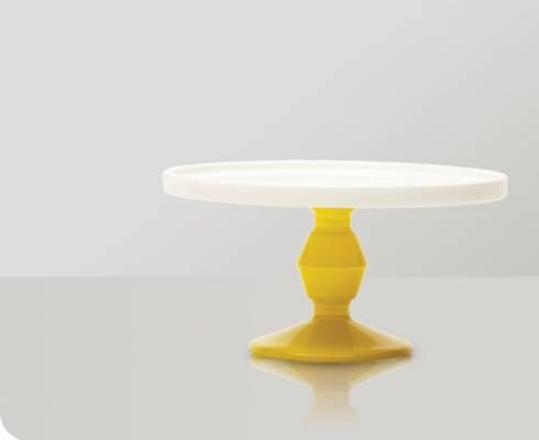 Cake Stand Mini in Yellow by Jansen & Co. - I always have cake or cookies made, and my kitchen is yellow! Perfect!!