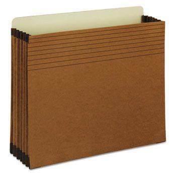 """Easy Grip File Pocket, Letter, 5 1/4"""" Exp, Redrope, 10/bx"""