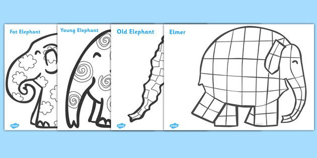Patterns Colouring Sheets to Support Teaching on Elmer ...